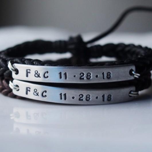 Customized couples bracelets, couples bracelets, customized bracelets