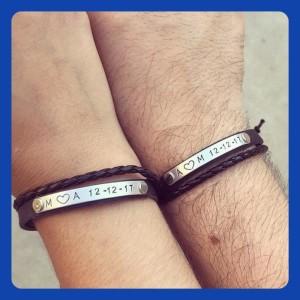 Couples Bracelets, handmade couples bracelet set, personalized bracelets