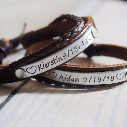Personalized Couples Bracelets