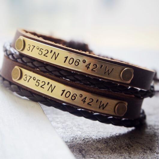 Custom Coordinates Bracelets, Long distance relationship Bracelets