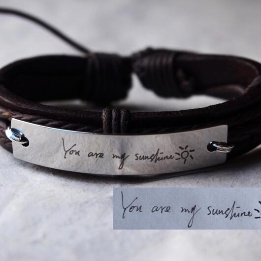 Signature Bracelet, handwritten bracelet