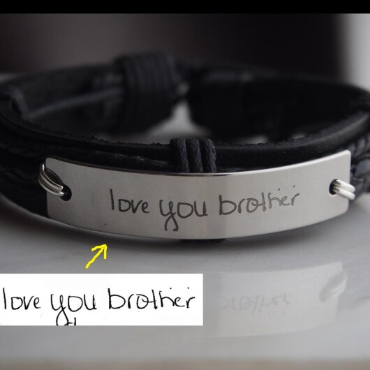 Custom Bracelet, Handwritten Bracelets for Brother