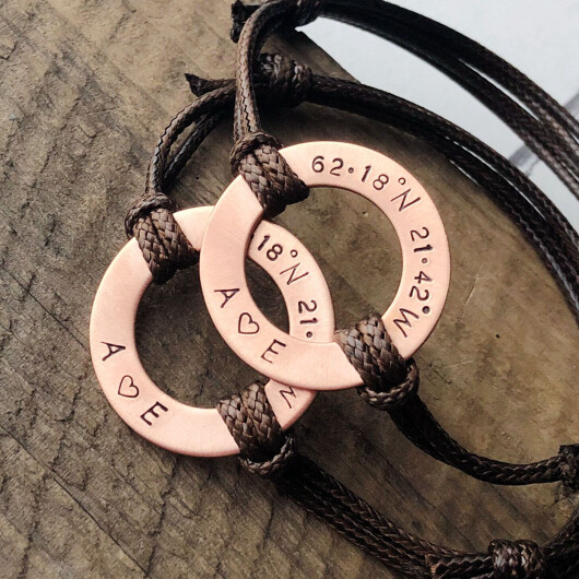 Coordinates Bracelets for couples