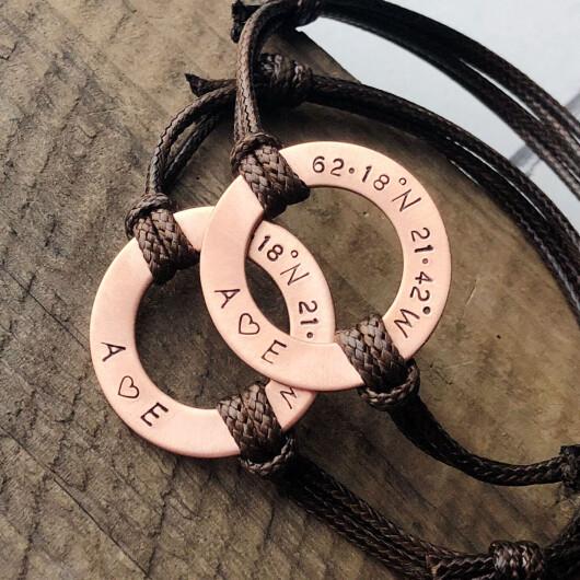 Coordinates Bracelets for couples